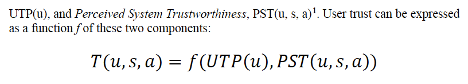 NIST's representation of trust as an equation